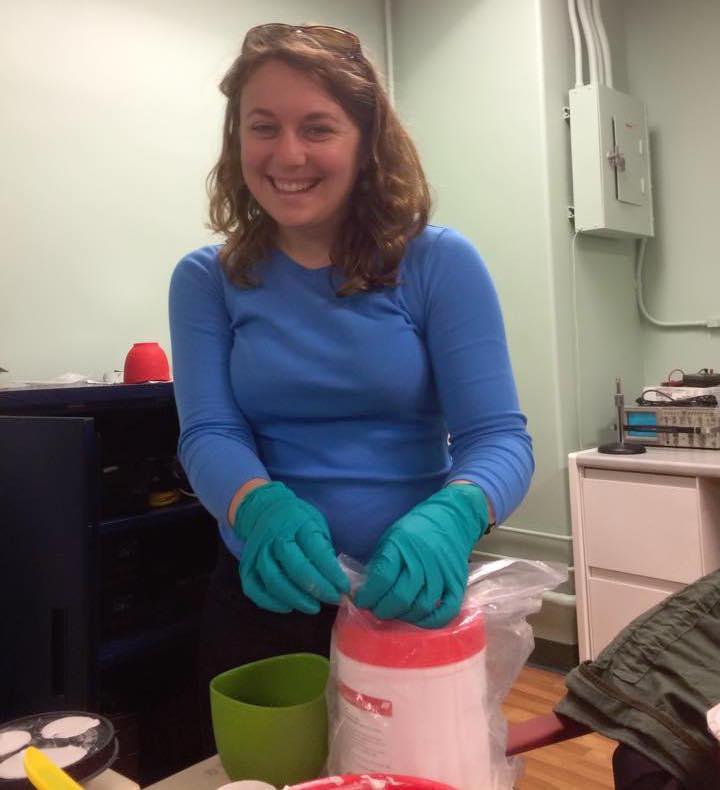 Sarah Bakst making palate molds