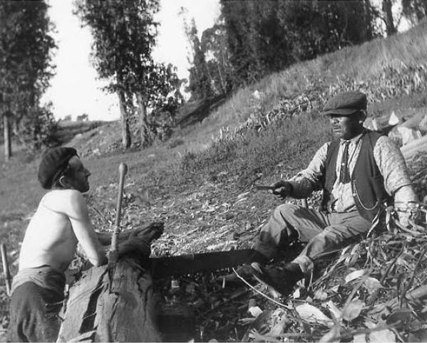 Jaime de Angulo and Jack Folsom (Achumawi), c. 1925