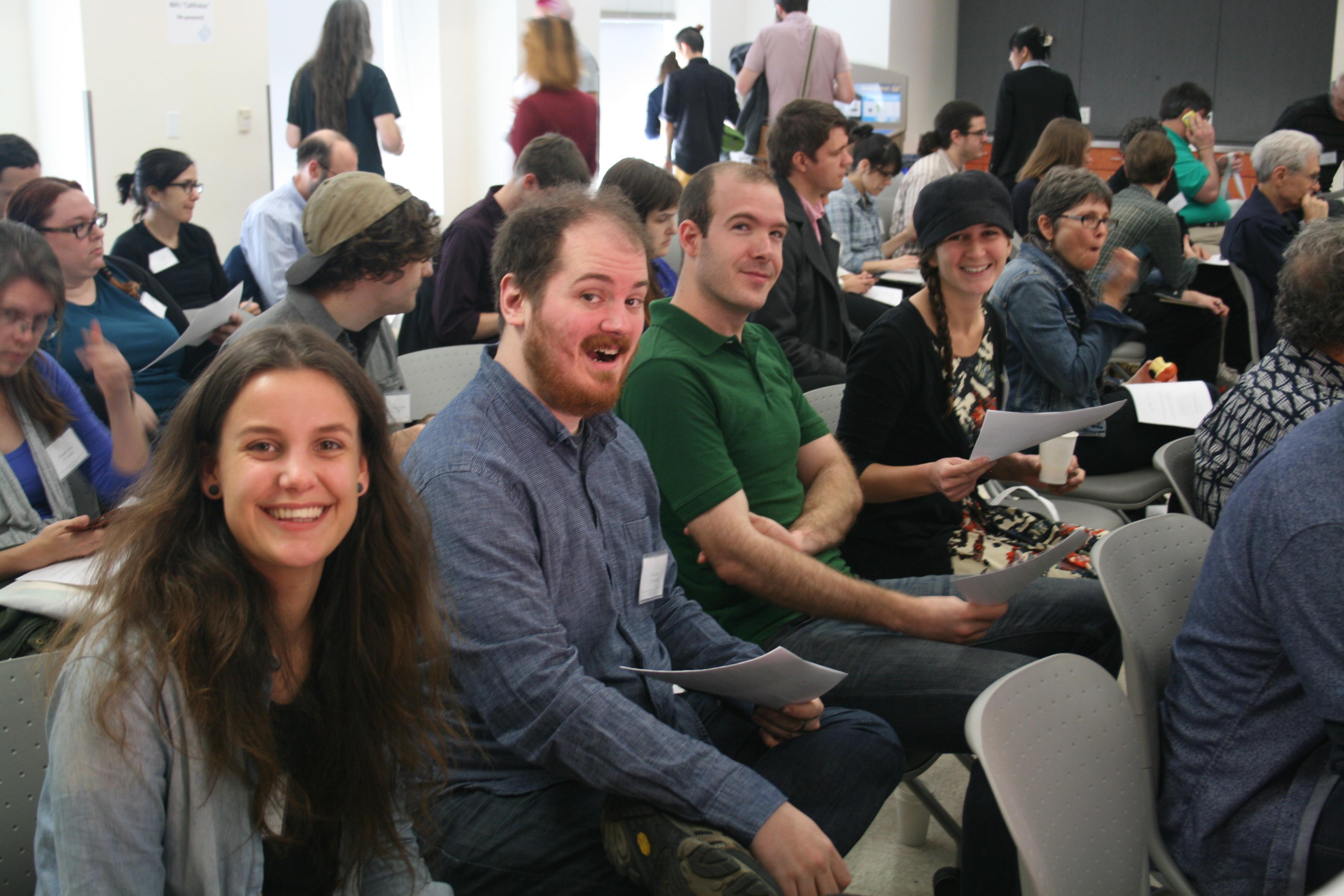 Linguistics colloquium audience