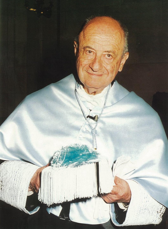 Yakov Malkiel in Salamanca, 1994