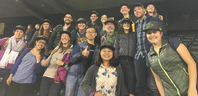 Berkeley linguists at the ballgame
