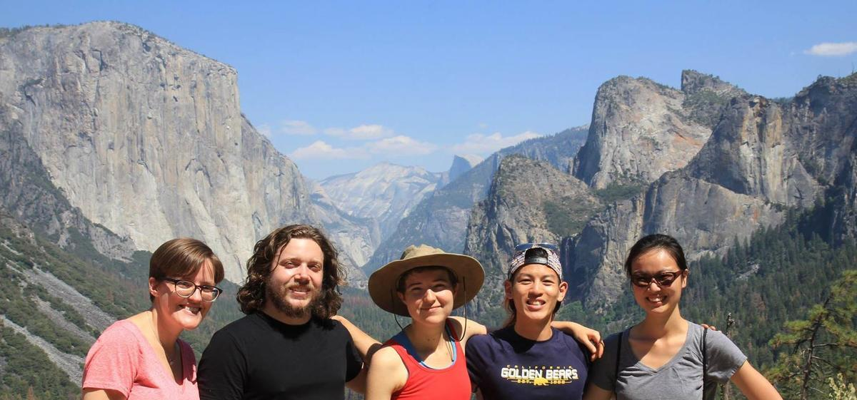 Ling graduate students, at Yosemite