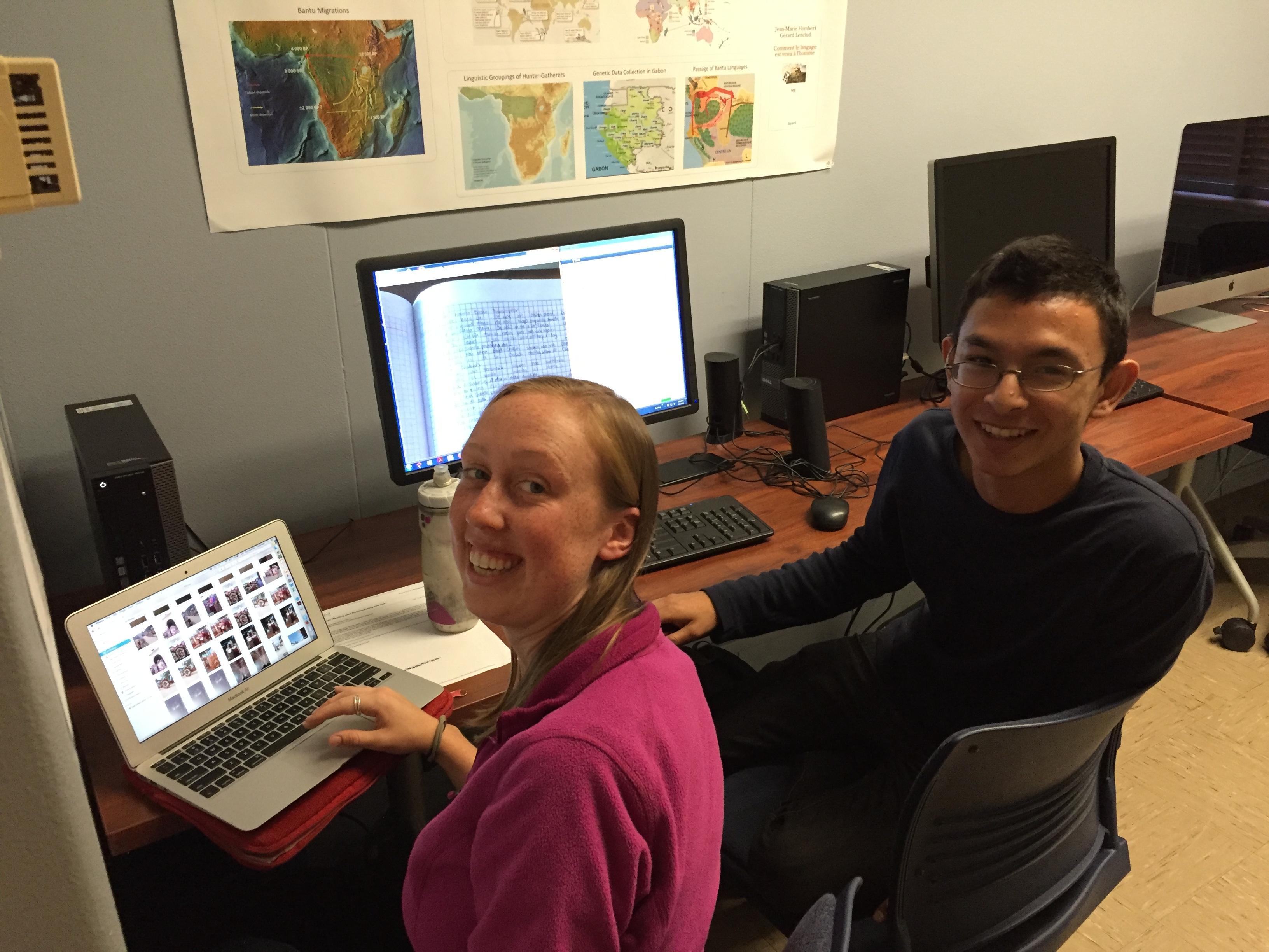 Julia Nee and Samir Alam in the Fieldwork Lab