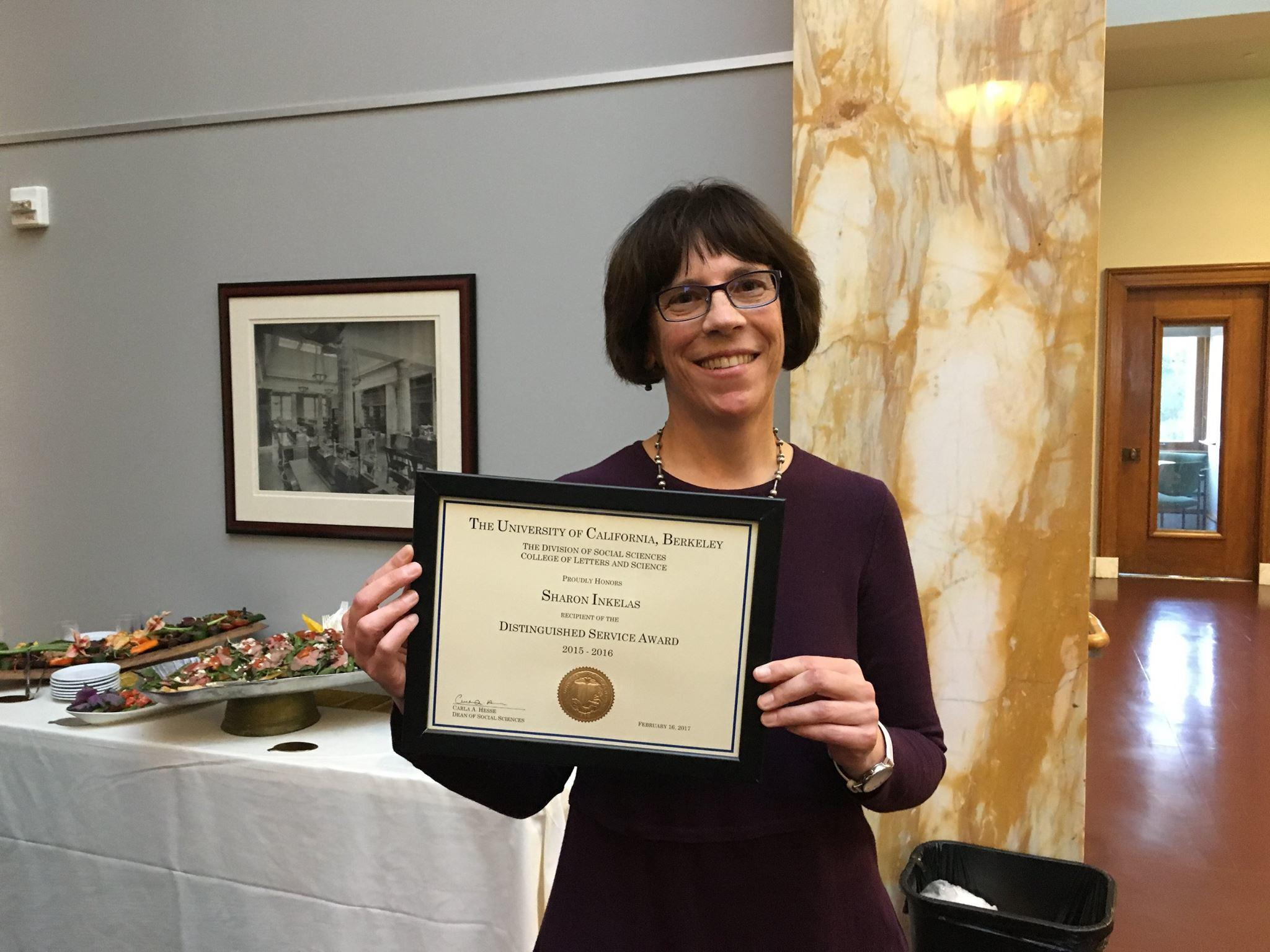 Sharon Inkelas, Social Sciences Distinguished Service Award
