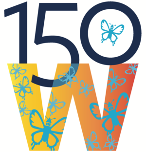 "Graphic associated with the ""150 years of women at Berkeley"" project"