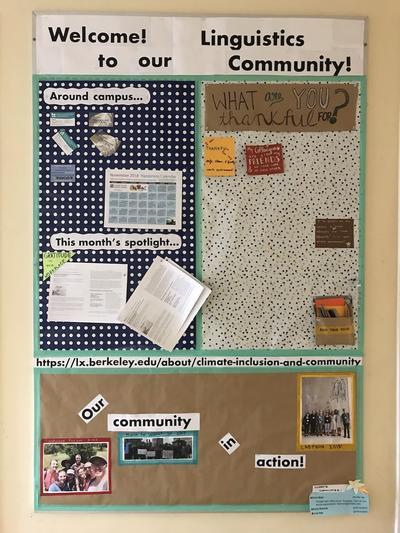 Climate bulletin board