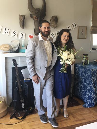 Hyman Cascardi wedding ceremony