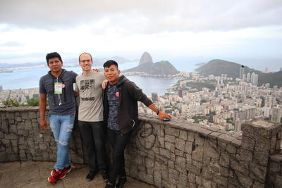 Bernat Bardagil and colleagues in Rio